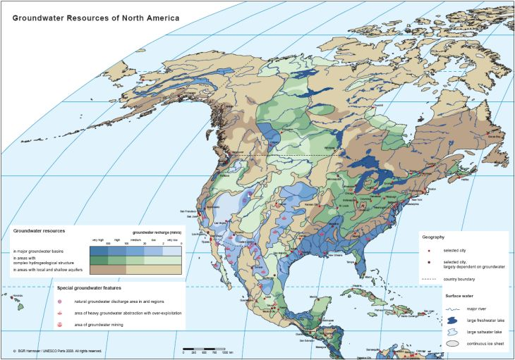BGR   WHYMAP   Groundwater Resources Map of North America